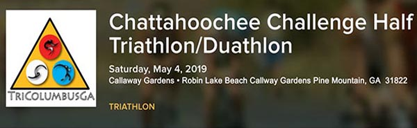 3 Chatt Challenge half Tri-Duo May 4r